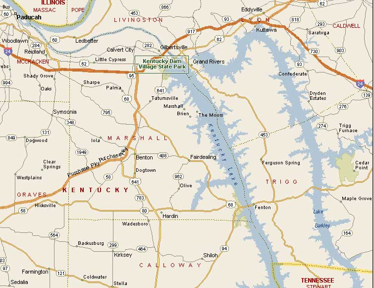 Scenic Pictures Of Northern Kentucky - Kentucky lakes map