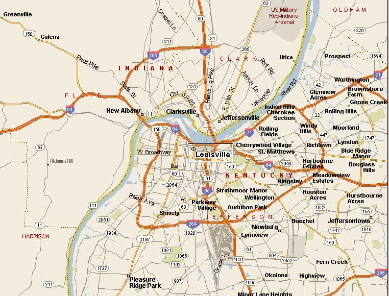 Street Map Louisville KY Submited Images